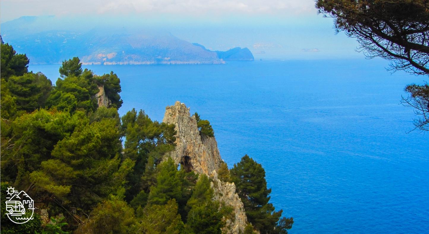 Arco Naturale or Natural arch in Capri, Chairlift to Mount Solaro in Anacapri, Capri, Axel Munthe's Villa San Michele in Anacapri, Punta Carena lighthouse,,Capri island, Anacapri, Ischia, Italy, Blue Grotto, Faraglioni, Mediterranean, Axel Munthe, guided tours of Capri, Italian islands, Amalfi coast, guided tours of Ischia, tour of Capri, Fortini walk, the path of the old forts, Monte Solaro, chairlift in Capri