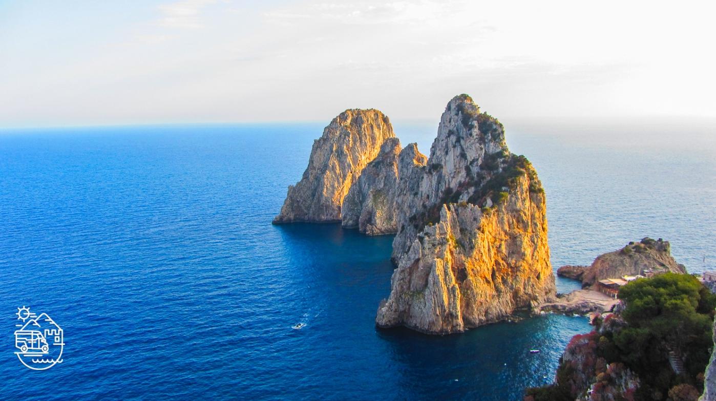 The Faraglioni rocks in Capri, Villa Malaparte in Capri, Chairlift to Mount Solaro in Anacapri, Capri, Axel Munthe's Villa San Michele in Anacapri, Punta Carena lighthouse, Capri, Capri island, Arco Naturale, Capri, Anacapri, Ischia, Italy, Blue Grotto, Faraglioni, Mediterranean, Axel Munthe, guided tours of Capri, Italian islands, Amalfi coast, guided tours of Ischia, tour of Capri, Fortini walk, the path of the old forts, Monte Solaro, chairlift in Capri, Punta Tragara
