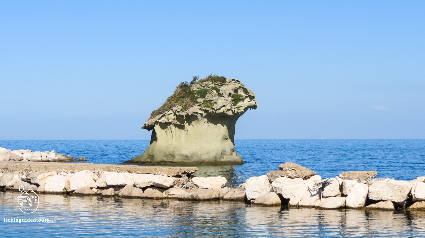 The mushroom rock in Lacco Ameno, Ischia, Pithecusa, Monte Vico, Angelo Rizzoli, Ischia island, Museo archeologico di Pithecusa, Nestor's cup, Greek colony, Aenaria, Elena Ferrante, guided tour in Ischia, to do in Ischia