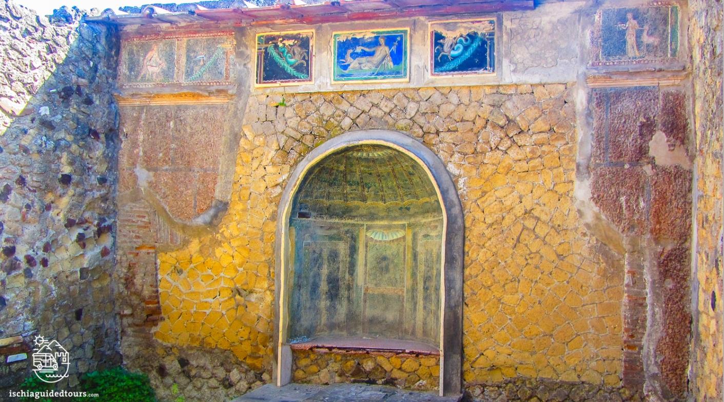 Herculaneum, Herculaneum excavations, Herculaneum house of the skeleton, Roman ruins, Mount Vesuvius, 79 A.D.,  Herculaneum house of Neptune and Amphitrite, Herculaneum, women's baths herculaneum, mosaic women's bath herculaneum, Pompeii, Herculaneum Naples, guided tours Herculaneum, Herculaneum tours, Ercolano, Ischia to Herculaneum, Mount Vesuvius eruption, 79 A.D., Amalfi coats tour, Ischia tour, private tours Pompeii