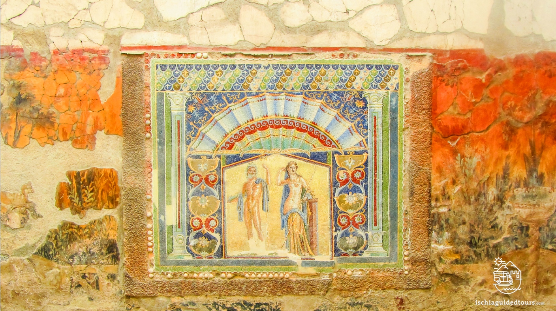 Herculaneum, Herculaneum excavations, Herculaneum house of Neptune and Amphitrite, Herculaneum, women's baths herculaneum, mosaic women's bath herculaneum, Pompeii, Herculaneum Naples, guided tours Herculaneum, Herculaneum tours, Ercolano, Ischia to Herculaneum, Mount Vesuvius eruption, 79 A.D., Amalfi coats tour, Ischia tour, private tours Pompeii