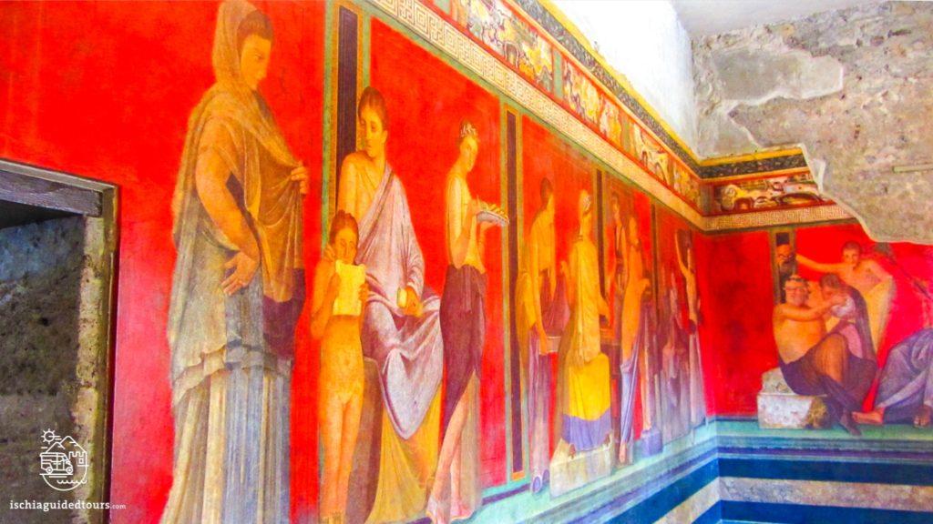 Pompeii, Pompeii Villa of Mysteries, Roman frescoes, Villa dei Misteri Pompeii, excavations, Herculaneum, archaeology, Mount Vesuvius, Roman art, eruption, 79 ad, Amalfi coast, Sorrento, Italian art, Pompeii ruins, Pompeii tours, guided tours Pompeii, volcano, Naples, Igor Mitoraj, tour of Pompeii from Ischia, Ischia Pompeii