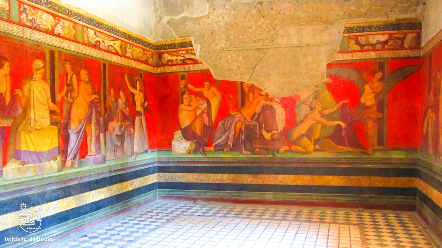 Pompeii, Pompeii Villa of Mysteries, Roman frescoes, Villa dei Misteri Pompeii, excavations, Herculaneum, archeology, Mount Vesuvius, Roman art, eruption, 79 ad, Amalfi coast, Sorrento, Italian art, Pompeii ruins, Pompeii tours, guided tours Pompeii, volcano, Naples, Igor Mitoraj, tour of Pompeii from Ischia, Ischia Pompeii